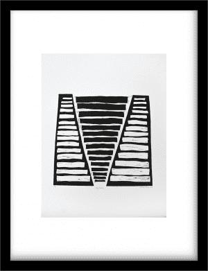Traptreden wandkleed Urban Cotton, design  - Lino techniek