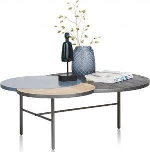 Glasgow salontafel 3-bladen - 110 x 85 cm XOOON Lowik Wonen & Slapen