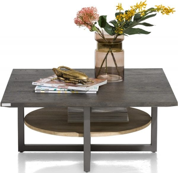 Moniz salontafel van Xooon, uitgevoerd in eiken fineer kleur carbon - modern betaalbaar design!