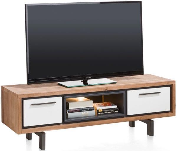 Otta tv-dressoir 140 cm - 1-lade + 1-klep + 1-niche (+ LED) MULTIMED XOOON Lowik Wonen & Slapen