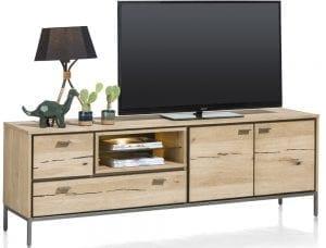 Faneur meubels uit de moderne Xooon collectie - eiken met metalen details