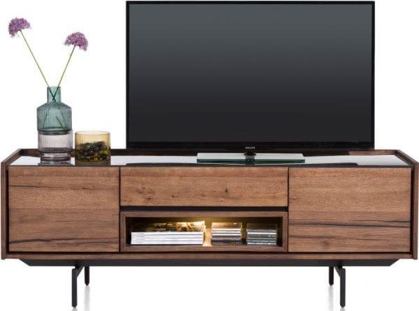 Halmstad Lowboard 160 Cm - 2-Deuren + 1-Lade + 1-Niche Xooon Kasten > TV meubelen 40697BRL
