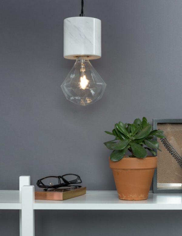 Hanglamp Trust Marble White modern design uit de Zuiver meubel collectie - 5300089