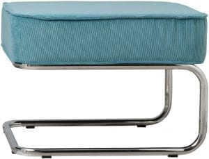 Hocker Ridge Rib Blue 12A modern design uit de Zuiver meubel collectie - 3300004