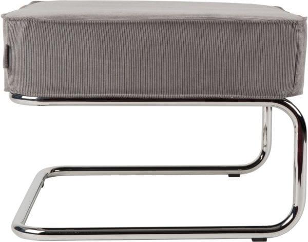 Hocker Ridge Rib Cool Grey 32A modern design uit de Zuiver meubel collectie - 3300022