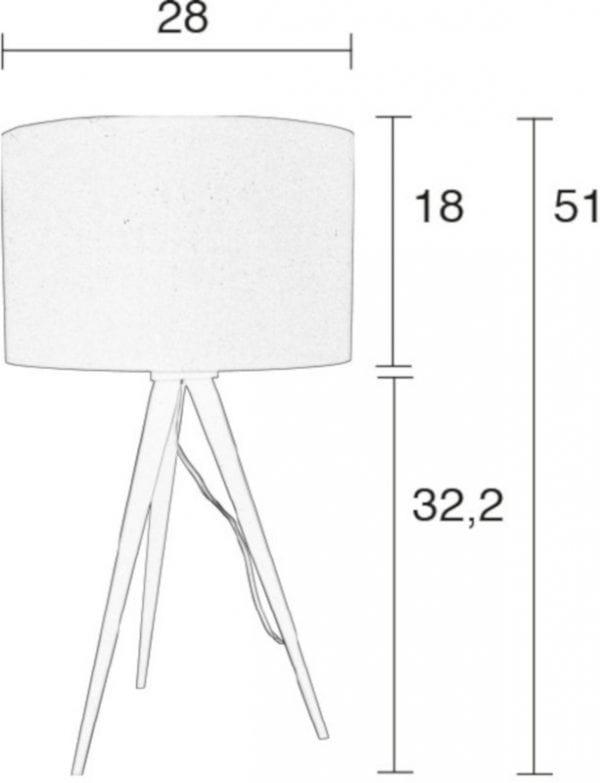Tafellamp Tripod Black/Grey modern design uit de Zuiver meubel collectie - 5200010