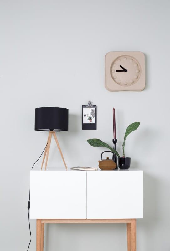 Tafellamp Tripod Wood Black modern design uit de Zuiver meubel collectie - 5200008