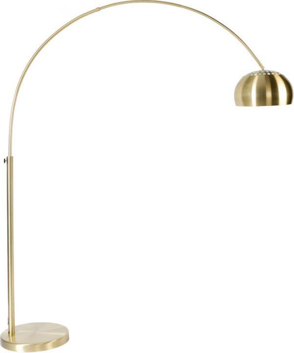 Vloerlamp Metal Bow Brass modern design uit de Zuiver meubel collectie - 5100047