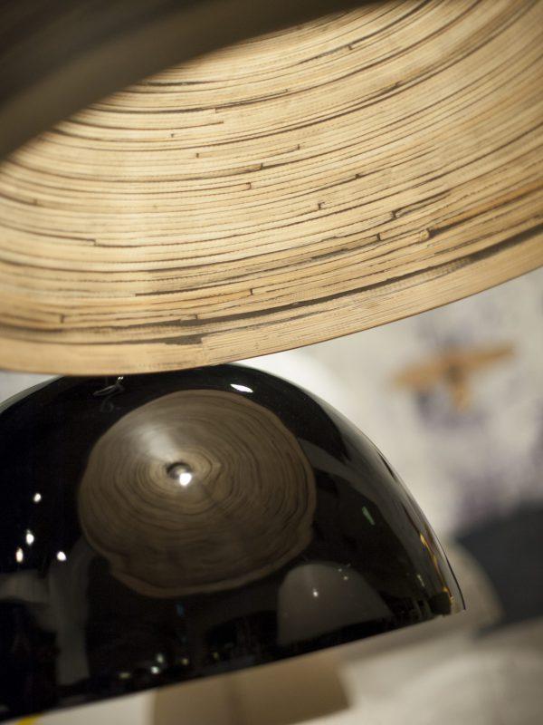 Hanglamp bamboe Halong enkel, donker naturel - it's about RoMi