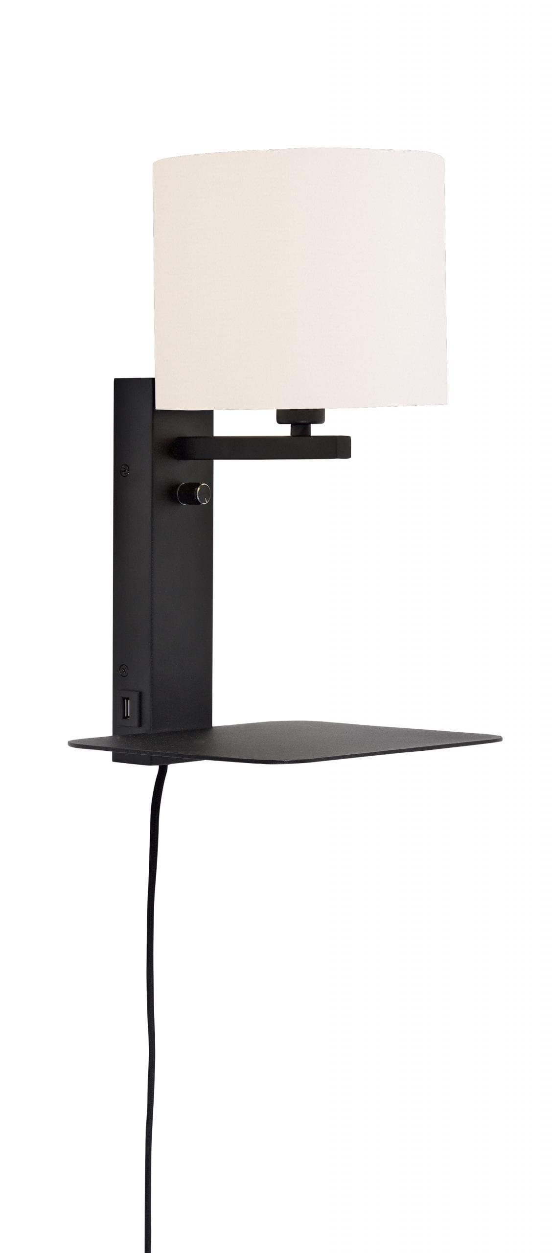 Wandlamp Florence - Black/White - 40cm