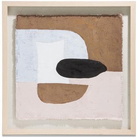 schilderij Natural Abstract - 70 x 70 cm Coco Maison WALLDECO Lowik Wonen & Slapen