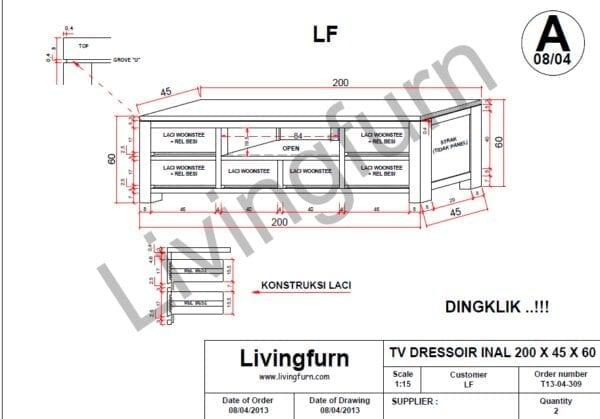Oxford, lowboard 190 cm. - 2-deuren + 1-lade + 2-niches (+ LED) OXFORD MULTIMED 40973BRL Henders & Hazel Lowik Wonen & Slapen
