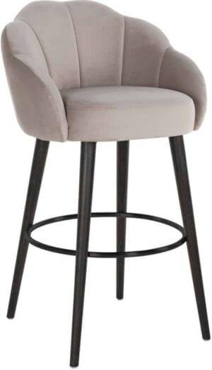 Barstoel Tulip Khaki velvet (Quartz Khaki 903) - Richmond Interiors -  - Löwik Wonen & Slapen Vriezenveen