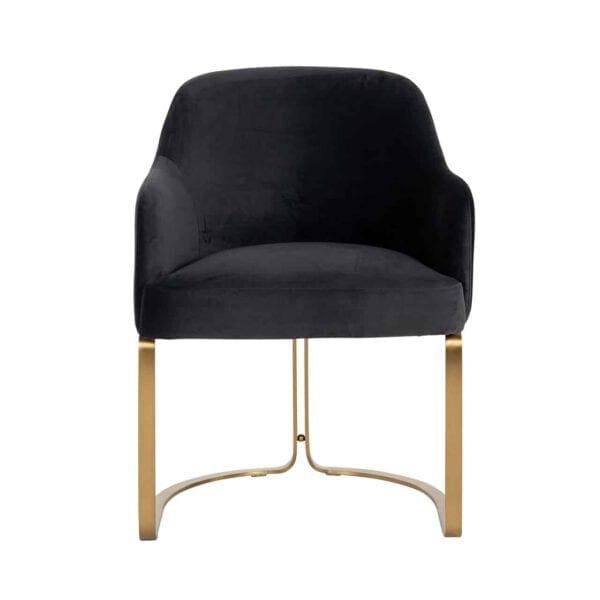 Deze chique eetkamerstoel met een geribbelde achterkant is zowel stijlvol als comfortabel. - Löwik Wonen & Slapen Vriezenveen