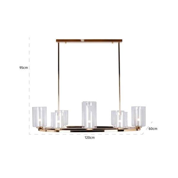 Hanglamp Naila met 14 kandelaren (Zilver) - Richmond Interiors - Hanglamp Naila met 14 kandelaren is een modern statement in je interieur. Een perfecte, sfeervolle samensmelting van vroeger en nu! - Löwik Wonen & Slapen Vriezenveen