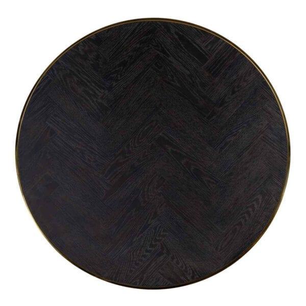 Salontafel Blackbone gold set van 2 rond (Goud) - Richmond Interiors - Salontafel Blackbone gold set van 2 rond is een verrijking voor je zithoek! Deze stoere, maar toch elegante salontafel set is gemaakt van zwart eiken met glimmend, goudkleurig RVS. Ook verkrijgbaar met zilver. - Löwik Wonen & Slapen Vriezenveen