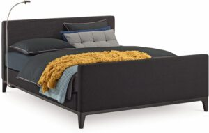 Boxspring Criade van Auping, afgebeeld met hoofdbord Plain, stel uw bed naar wens samen!