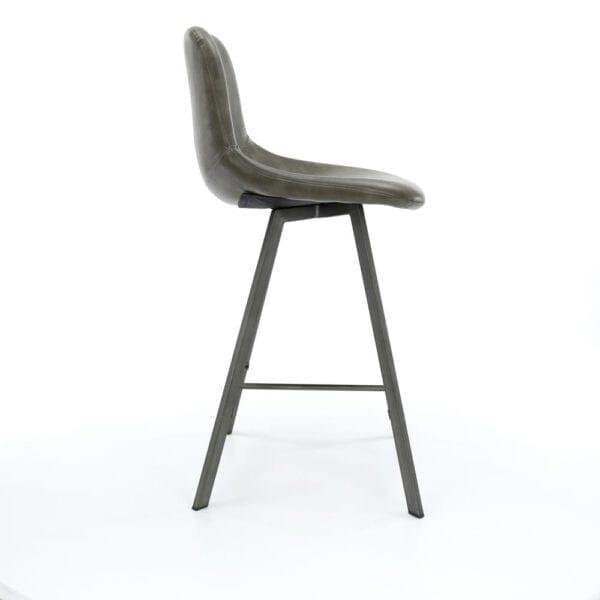 Barstoel zig-zag plat frame VPE 4 / Saddle PU taupe. Barstoel uit de barstoelen collectie van Bullcraft kleinmeubelen & verlichting bij Löwik Meubelen