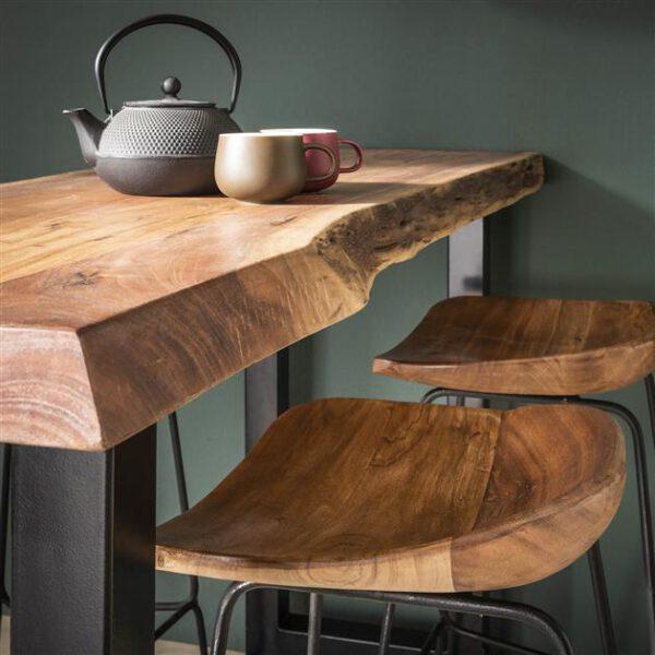 Barstoel hout ergo VPE4 / Massief acacia naturel. 3620/15 uit de barstoelen collectie van Zijlstrakleinmeubelen & verlichting bij Löwik Meubelen