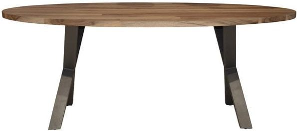 Eetkamertafel 200cm Daytona / Massief Saja natural. Eetkamertafel uit de eetkamertafels collectie van Bullcraft kleinmeubelen & verlichting bij Löwik Meubelen