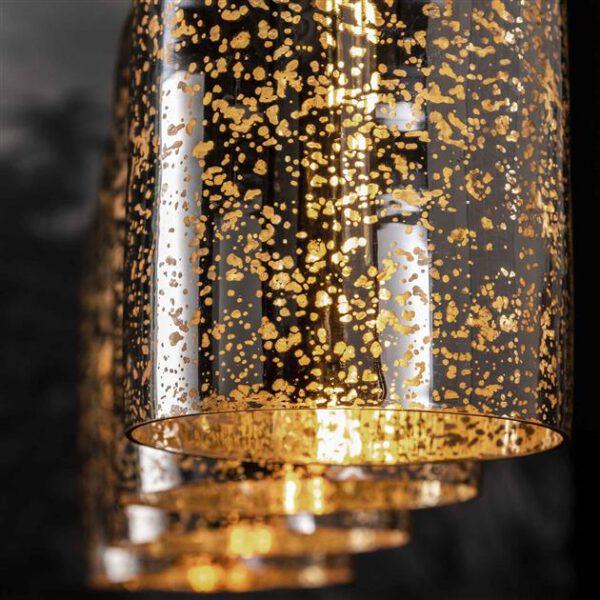 Hanglamp 4L kelk metallic glass / Oud zilver. Hanglamp uit de hanglampen collectie van Bullcraft kleinmeubelen & verlichting bij Löwik Meubelen