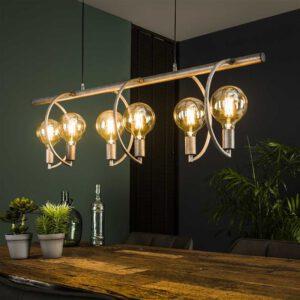 Hanglamp 6L Chop Ø125 mm lichtbron / Oud zilver. Hanglamp uit de hanglampen collectie van Bullcraft kleinmeubelen & verlichting bij Löwik Meubelen