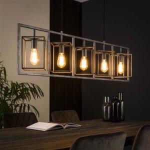 Hanglamp 5L cubic tower / Oud zilver. Hanglamp uit de hanglampen collectie van Bullcraft kleinmeubelen & verlichting bij Löwik Meubelen