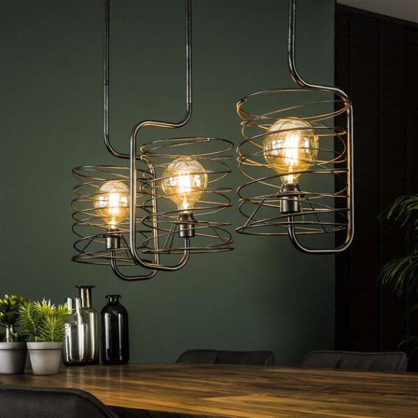 Hanglamp 3x Ø25 Curl cylinder / Charcoal. Hanglamp uit de hanglampen collectie van Bullcraft kleinmeubelen & verlichting bij Löwik Meubelen