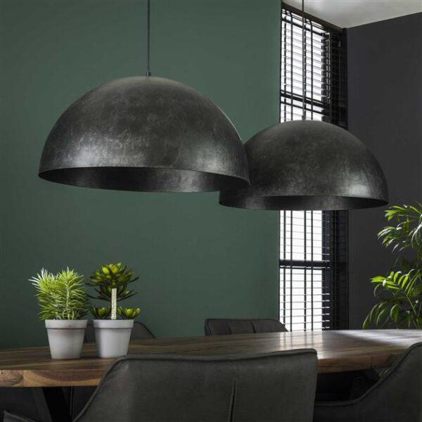 Hanglamp 2x Ø60 Dome / Charcoal. Hanglamp uit de hanglampen collectie van Bullcraft kleinmeubelen & verlichting bij Löwik Meubelen