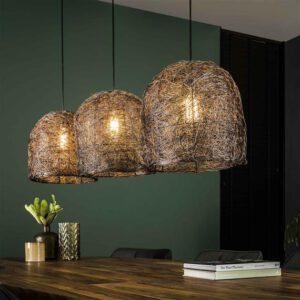 Hanglamp 3L haystack / Antiek koper finish. Hanglamp uit de hanglampen collectie van Bullcraft kleinmeubelen & verlichting bij Löwik Meubelen