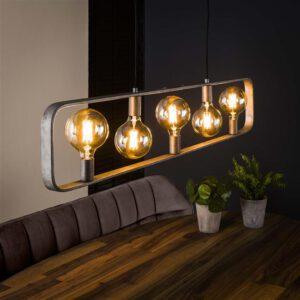 Hanglamp 5L strip / Oud zilver. Hanglamp uit de hanglampen collectie van Bullcraft kleinmeubelen & verlichting bij Löwik Meubelen