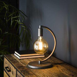 Tafellamp 1L Chop Ø125 mm lichtbron / Oud zilver. Tafellamp uit de tafellampen collectie van Bullcraft kleinmeubelen & verlichting bij Löwik Meubelen