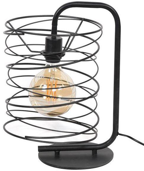Tafellamp 1x Ø25 Curl cylinder / Charcoal. Tafellamp uit de tafellampen collectie van Bullcraft kleinmeubelen & verlichting bij Löwik Meubelen