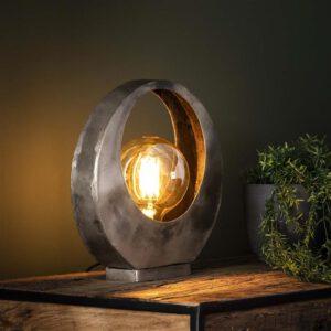 Tafellamp full moon / Oud zilver. Tafellamp uit de tafellampen collectie van Bullcraft kleinmeubelen & verlichting bij Löwik Meubelen