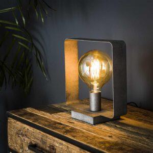 Tafellamp 1L strip / Oud zilver. Tafellamp uit de tafellampen collectie van Bullcraft kleinmeubelen & verlichting bij Löwik Meubelen