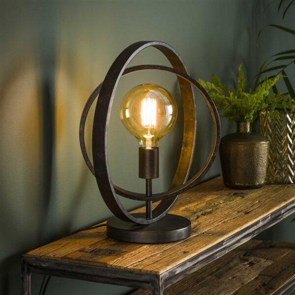 Tafellamp 1L Turn around / Charcoal. Tafellamp uit de tafellampen collectie van Bullcraft kleinmeubelen & verlichting bij Löwik Meubelen