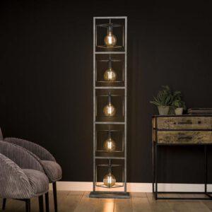 Vloerlamp 5L giant  tower  / Oud zilver. Vloerlamp uit de vloerlampen collectie van Bullcraft kleinmeubelen & verlichting bij Löwik Meubelen