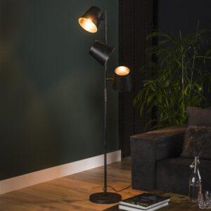 Vloerlamp 3x Ø18 Kinetic / Charcoal. Vloerlamp uit de vloerlampen collectie van Bullcraft kleinmeubelen & verlichting bij Löwik Meubelen