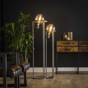 Vloerlamp 2L match set/2 Ø200 mm lichtbron / Oud zilver. Vloerlamp uit de vloerlampen collectie van Bullcraft kleinmeubelen & verlichting bij Löwik Meubelen
