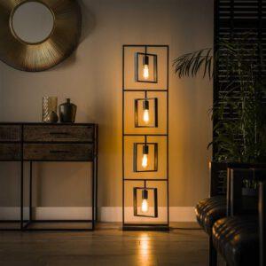 Vloerlamp 4L Turn square / Charcoal. Vloerlamp uit de vloerlampen collectie van Bullcraft kleinmeubelen & verlichting bij Löwik Meubelen