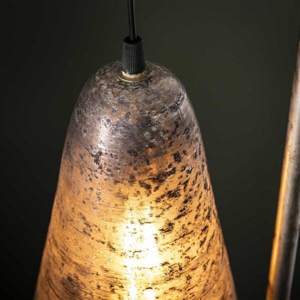 Vloerlamp wikkel burned glass / Oud zilver. Vloerlamp uit de vloerlampen collectie van Bullcraft kleinmeubelen & verlichting bij Löwik Meubelen