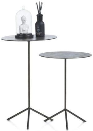 set van 2 bijzettafels Mealynn - diameter 39 cm / 36 cm - zwart Coco Maison SMALLFURN Lowik Wonen & Slapen