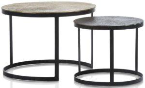 Magali set van 2 salontafels H41-35cm Coco Maison SMALLFURN Lowik Wonen & Slapen