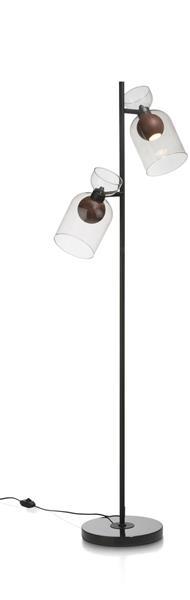 Skylar vloerlamp 2-lamps - antraciet Coco Maison LIGHTING Lowik Wonen & Slapen
