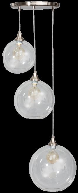 Calvello hanglamp trio 20/25/30cm 3x E27 helder - ETH verlichting - 05-HL4410-60