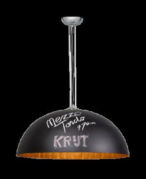 Mezzo Krijt hanglamp 70cm 1x E27 zwart/goud - ETH verlichting - 05-HL4230-9034G