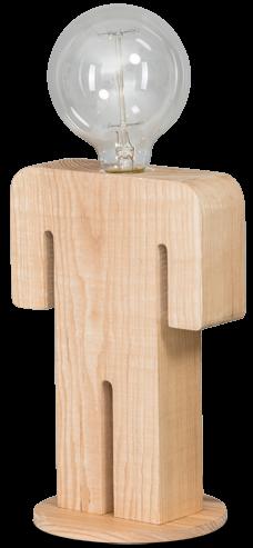 Adam tafellamp man 24cm 1x E27 hout - ETH verlichting - 05-TL3288-73