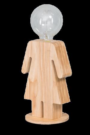 Eve tafellamp vrouw 24cm 1x E27 hout - ETH verlichting - 05-TL3289-73