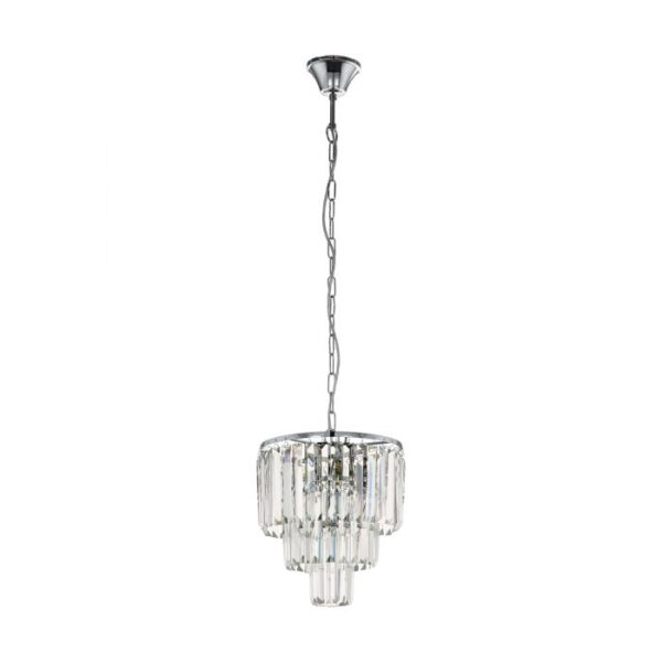 Agrigento hanglamp uit de hanglampen collectie van Eglo, verlichting voor een sfeervol thuis! Schitterende lamp vervaardigd uit metaal, chroom van kleur en passend bij vele interieurstijlen. De hanglamp is voorzien van een E14 fitting. Hanglamp Agrigento wordt geleverd exclusief lichtbron(nen).