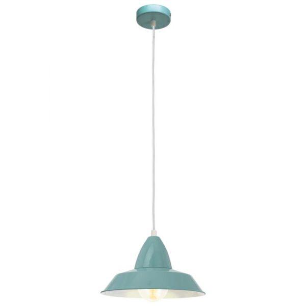 Auckland hanglamp uit de hanglampen collectie van Eglo, verlichting voor een sfeervol thuis! Schitterende lamp vervaardigd uit metaal, munt van kleur en passend bij vele interieurstijlen. De hanglamp is voorzien van een E27 fitting. Hanglamp Auckland wordt geleverd exclusief lichtbron(nen).